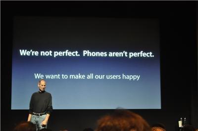 """Apple Pressekonferenz: Kostenlose Bumper, aufgebauschtes """"Antennagate"""", Erklärungen"""