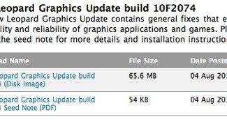 Apple veröffentlicht Mac-OS-X-Grafikupdate für Entwickler