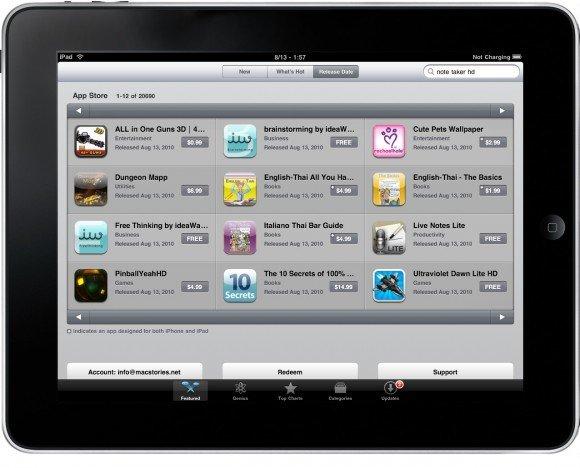 iPad AppStore überschreitet die 20.000 App-Marke