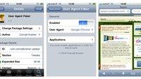 User Agent Faker: Webseiten mit dem iPhone in der Desktop-Version ansehen