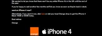 Orange UK: Kein weißes iPhone 4 vor Jahresende