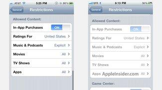Apple stimmt iOS-Kindersicherung auf Game Center ab