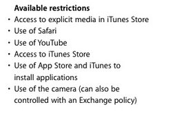 Dokumentation zu Configuration Utility enthält Hinweis auf iPad-Kamera