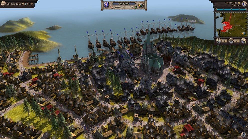 Patrizier 4: Mit einer riesigen Handelsflotte werdet ihr bald der größte Magnat der zivilisierten Welt sein