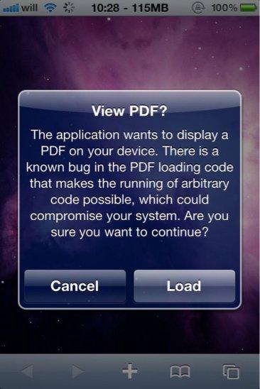 Wichtig: Gefährliche Sicherheitslücke in iOS 4 [Update]