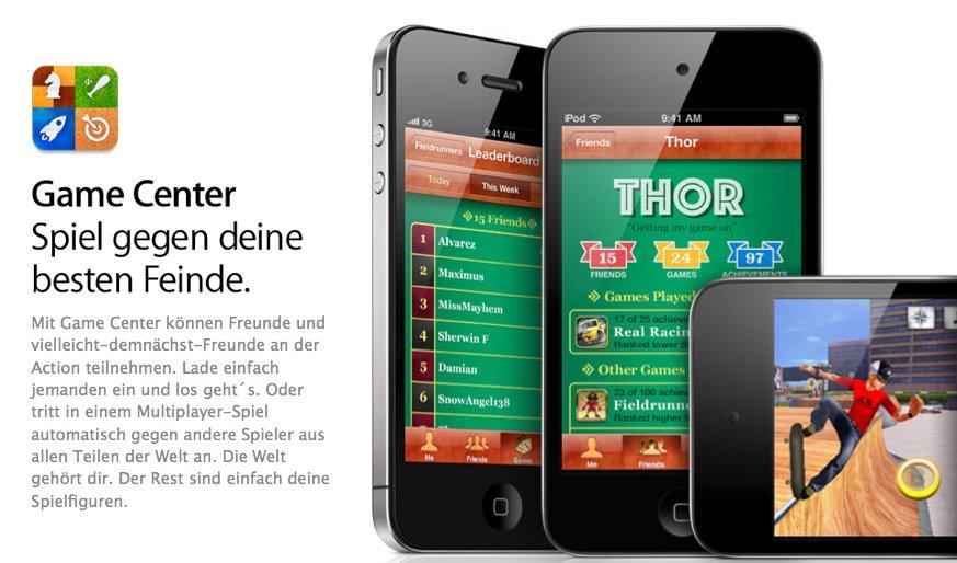 Vorbereitungen auf iOS 4.1 Release: Apple setzt Game Center zurück