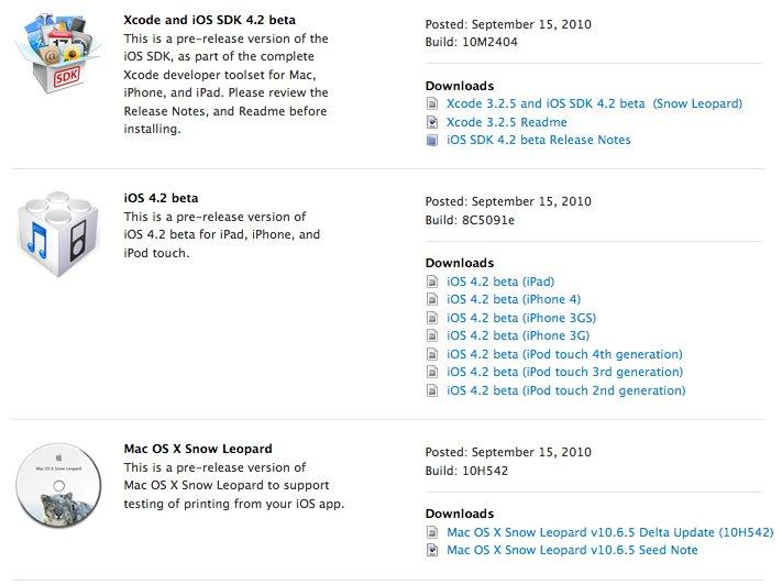 Apple veröffentlicht Firmware 4.2 und Snow Leopard Delta Update