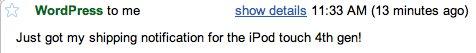 Erste iPod touch 4G bereits versendet