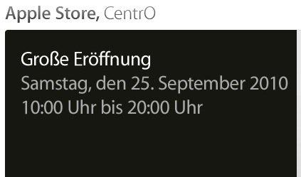 Neuer Apple Store im CentrO Oberhausen eröffnet am 25. September