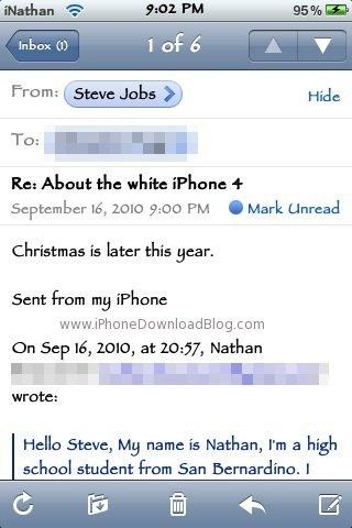 Steve Jobs: Weisses iPhone 4 zu Weihnachten