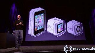 Apple Keynote: Apple Keynote 09.2010 drei neue iPod-Modelle