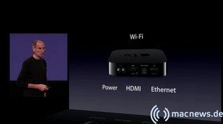 Apple Keynote: Apple TV Anschluesse