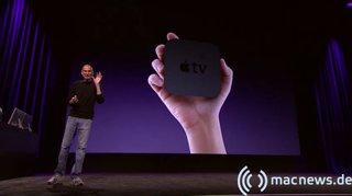 Apple Keynote: Apple TV in der Hand