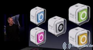 Apple Keynote: iPod shuffle alle Farben