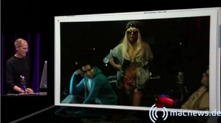 Apple Keynote: Steve Jobs und Lady Gaga