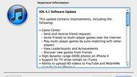 iOS 4.1: Update für iPhone und iPod touch verfügbar
