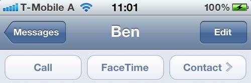 Messages FaceTime