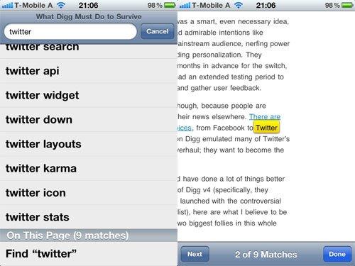 Suche iOS 4.2
