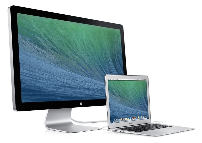 Thunderbolt Display mit MacBook Air.