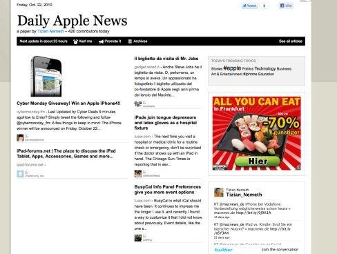 Paper.li macht Twitter-Anwender zu Zeitungsverlegern