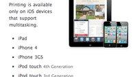 iPod touch der zweiten Generation ohne AirPrint-Unterstützung