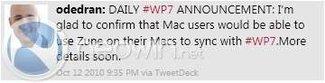 Zune kommt: Synchronisation zwischen Windows Phone 7 und Mac