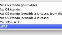 Mac OS X 10.6.5 kann ExFAT-Volumes erstellen