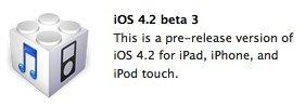 Für Entwickler: Apple veröffentlicht iOS 4.2 SDK Beta 3, iTunes 10.1 Beta 2