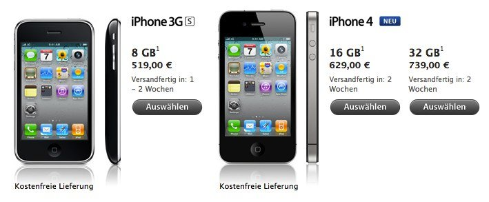 Apple entfernt weisses iPhone aus Online Store