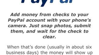 PayPal App Update: Guthaben mit Kamera aufladen