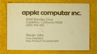Pic of the Day: Steve Jobs' alte Visitenkarte - die Telefonnummer funktioniert noch