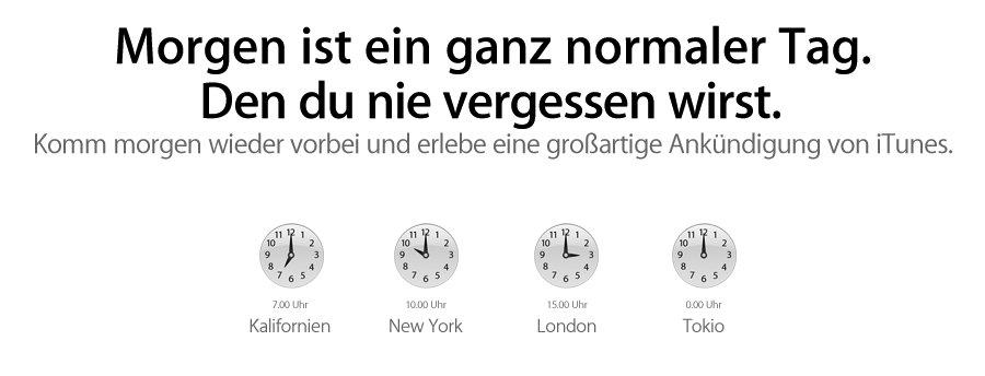 """""""Großartig"""": Apple kündigt iTunes Event an"""