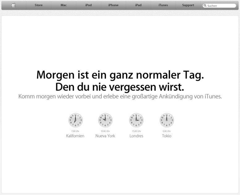 """""""Großartige Ankündigung"""" für iTunes"""