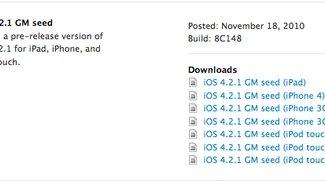 Apple veröffentlicht iOS 4.2.1 GM für Entwickler