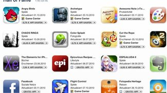 Apples Hall of Fame der Apps