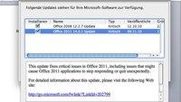 Microsoft Office 2011: Erstes großes Update