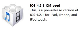 Apple veröffentlicht Golden-Master-Build von iOS 4.2.1