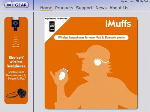 Wi-Gear iMuffs - Wireless headphones for your iPod and Bluetooth phone!