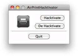 AirPrint Hacktivator: One-Click-Aktivierung von AirPrint unter OSX 10.6.5