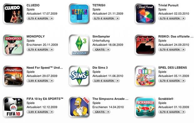 App-Angebote: Die Sims, Monopoly und mehr