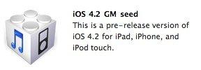 Für Developer: Apple veröffentlicht iOS 4.2 Golden Master
