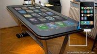 iPhone-Tisch mit 58 Zoll