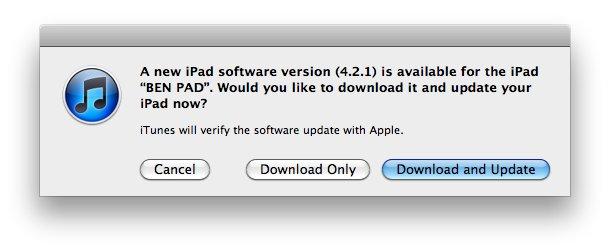 Software-Update: iOS 4.2.1 verfügbar