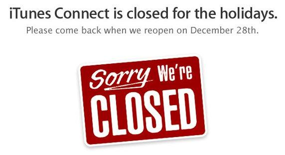 Für Entwickler: Apple schliesst iTunes Connect zu Weihnachten