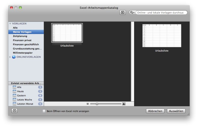 office mac 2011 applikations bergreifende dateienkataloge