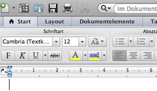 Office:mac 2011: Symbolleisten