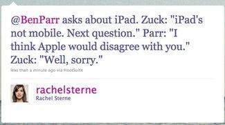 "Facebooks Mobil-Strategie: Neue iPhone-App - ""iPad ist nicht mobil"""