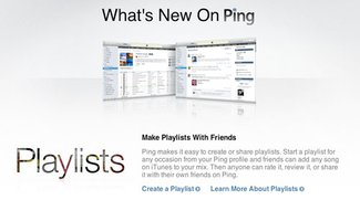 Apple integriert Wiedergabelisten in Ping