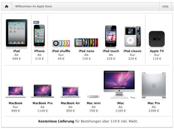 Apple Online Store bietet Null-Prozent-Finanzierung