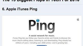 Magazin wählt Ping zu einem der größten IT-Flops 2010